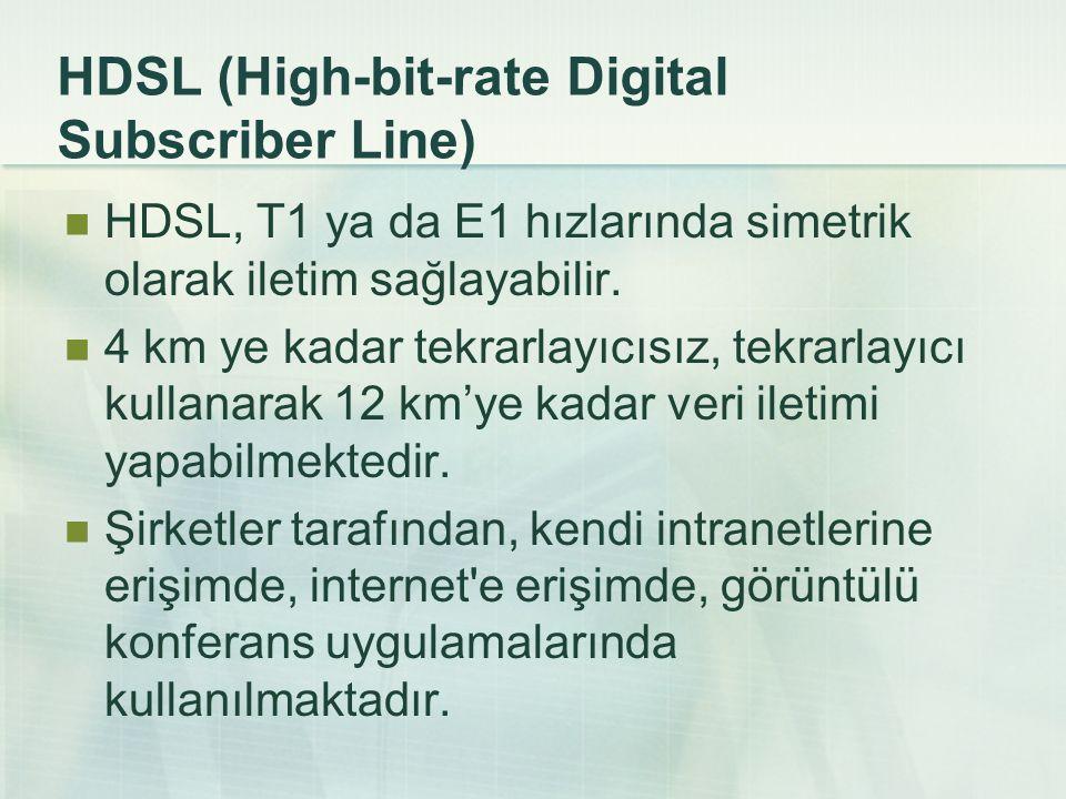 G.SHDSL G.SHDSL, veri alma ve yükleme hızlarının birbirine eşit olduğu özel bir DSL bağlantısıdır.