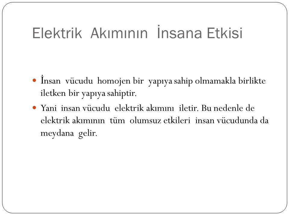 İ nsan vücudu homojen bir yapıya sahip olmamakla birlikte iletken bir yapıya sahiptir. Yani insan vücudu elektrik akımını iletir. Bu nedenle de elektr