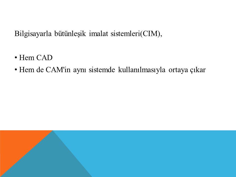 Bilgisayarla bütünleşik imalat sistemleri(CIM), Hem CAD Hem de CAM'in aynı sistemde kullanılmasıyla ortaya çıkar