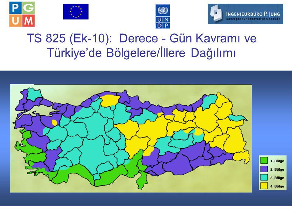 13 TS 825 (Ek-10): Derece - Gün Kavramı ve Türkiye'de Bölgelere/İllere Dağılımı