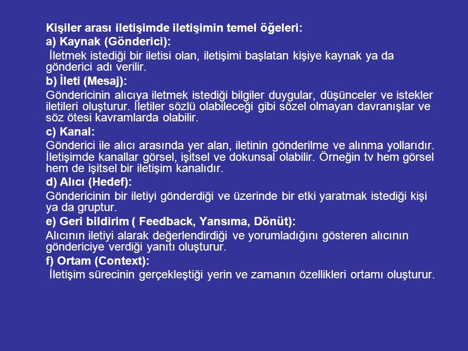 3) ÖRGÜT İÇİ İLETİŞİM VE ÇATIŞMA Örgüt, içinde karmaşık işleri yapmak için bir araya gelen, yüz yüze ilişkilere olanak bırakmayacak kadar çok sayıda insanın bilinçli ve sistematik olarak, ortaklaşa kabul edilmiş amaçlara ulaşacak şekilde aralarında ilişkiler kurdukları bir düzendir (Türkmen, 1961, s.