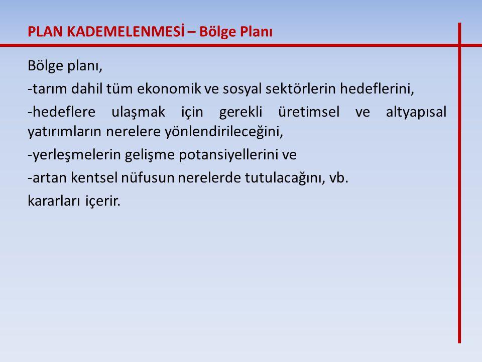 İkinci Dünya Savaşından sonra dünya devletlerinin planlama eylemlerine katılan bu planlama/plan kademesi, ülkemizde 1960 sonrasında, Devlet Planlama Teşkilatı'nın da kurulması ile gündeme girmiştir.