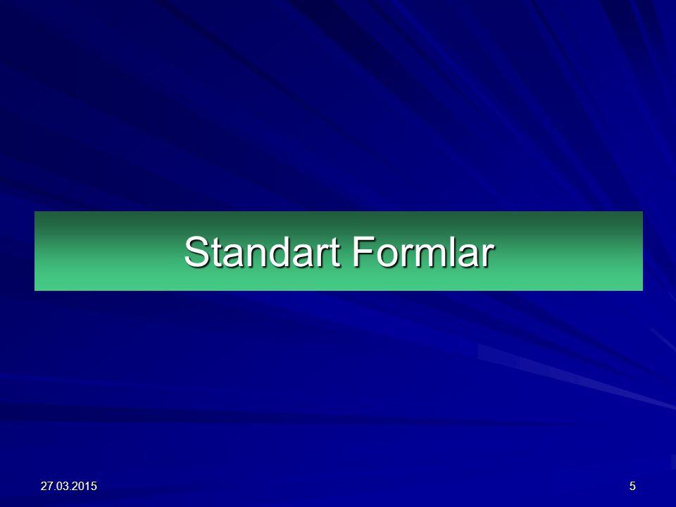 Standart Formlar 27.03.20155