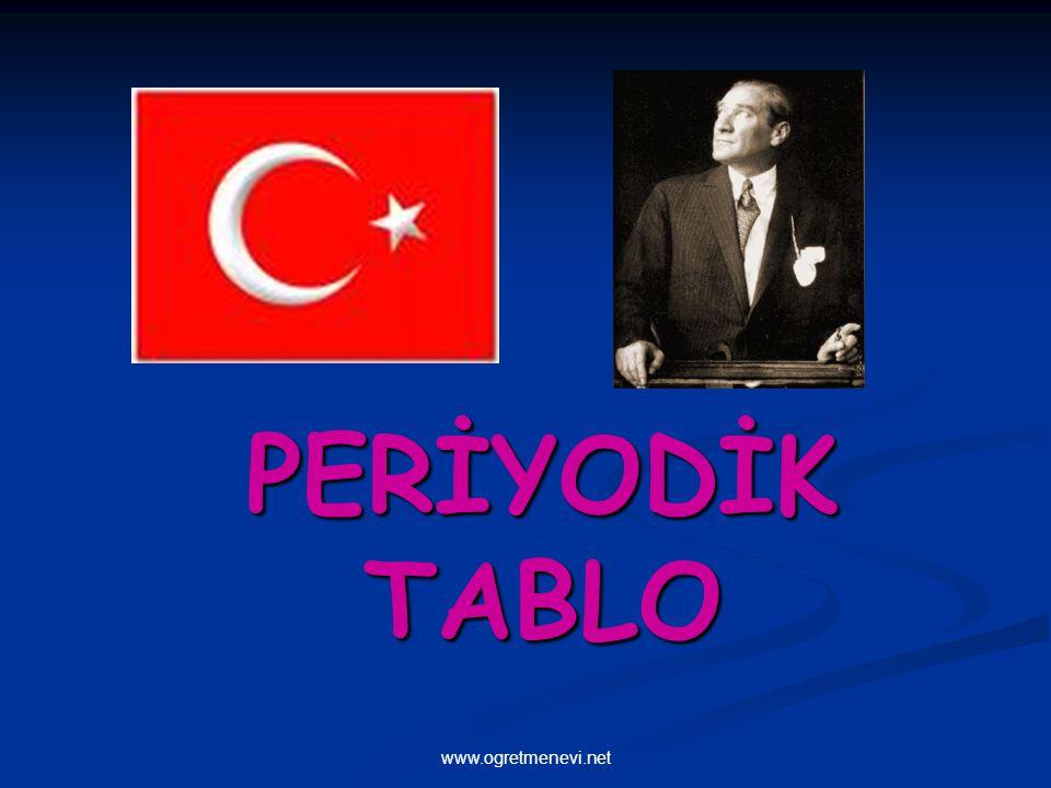 www.ogretmenevi.net PERİYODİK TABLO