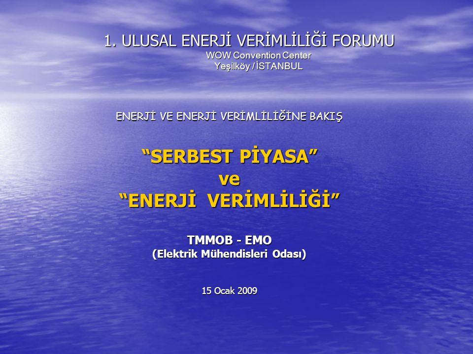 ,,, Bugün ülkemizdeki elektrik enerjisi piyasası da aynı kurguya göre işletiliyor.