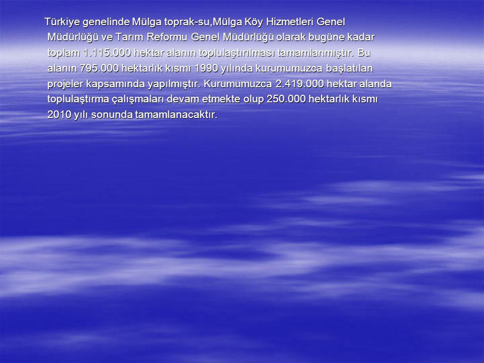 Türkiye genelinde Mülga toprak-su,Mülga Köy Hizmetleri Genel Türkiye genelinde Mülga toprak-su,Mülga Köy Hizmetleri Genel Müdürlüğü ve Tarım Reformu G