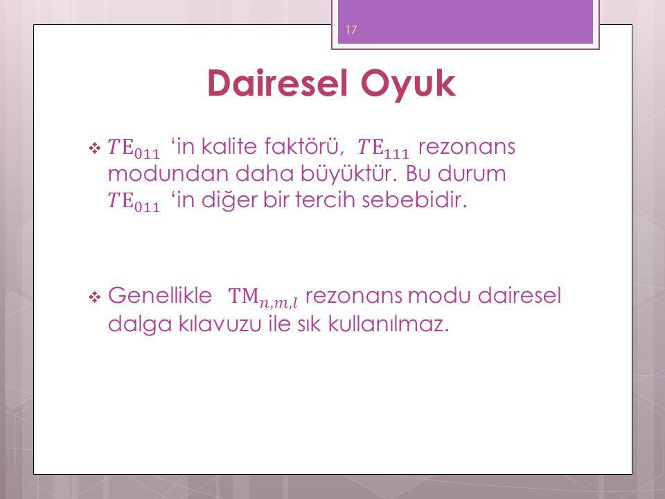 Dairesel Oyuk 17