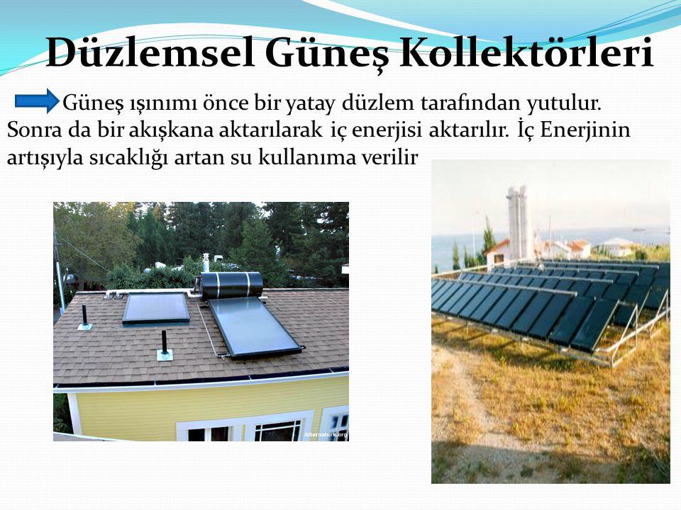 Vakumlu Güneş Kollektörleri Vakumlu cam borular ve gerekirse absorban yüzeyine gelen enerjiyi artırmak için metal ya da cam yansıtıcılar kullanılır
