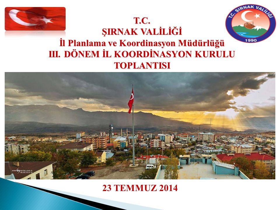 ŞIRNAK İLİ 2014 YILI III.