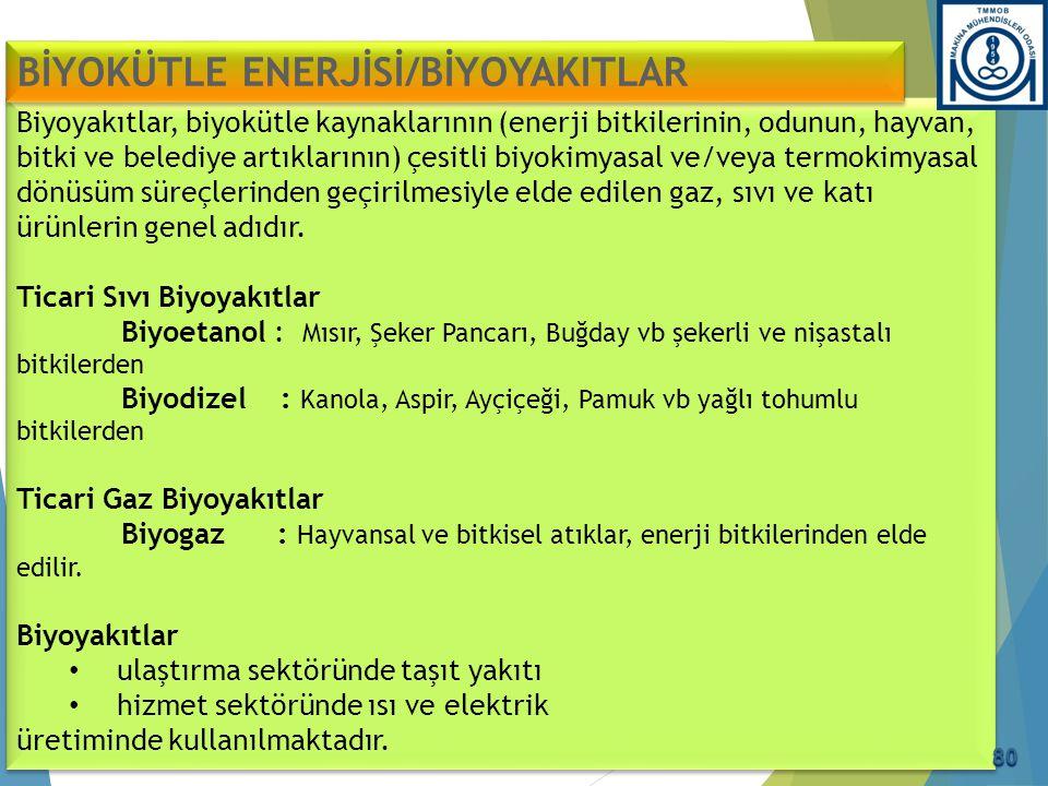 Biyoyakıtlar, biyokütle kaynaklarının (enerji bitkilerinin, odunun, hayvan, bitki ve belediye artıklarının) çesitli biyokimyasal ve/veya termokimyasal