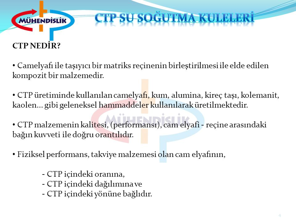 CTP NEDİR? Camelyafı ile taşıyıcı bir matriks reçinenin birleştirilmesi ile elde edilen kompozit bir malzemedir. CTP üretiminde kullanılan camelyafı,