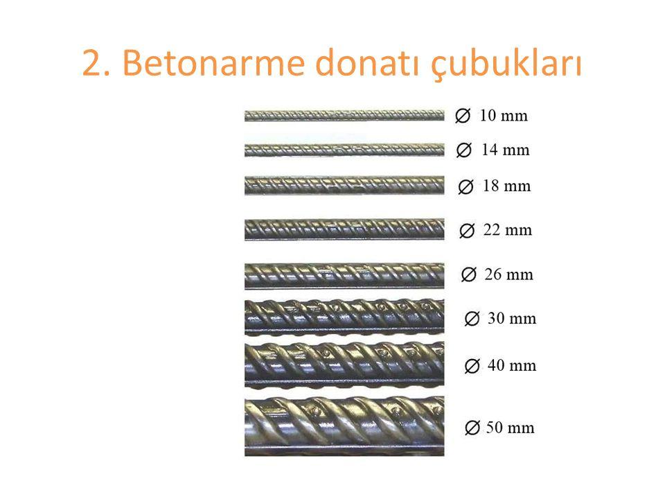 2. Betonarme donatı çubukları