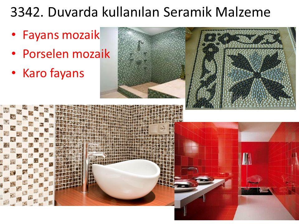 3342. Duvarda kullanılan Seramik Malzeme Fayans mozaik Porselen mozaik Karo fayans