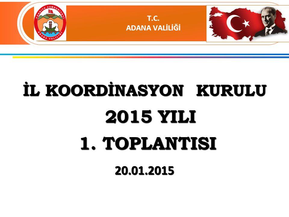İL KOORDİNASYON KURULU 2015 YILI 2015 YILI 1. TOPLANTISI 1.