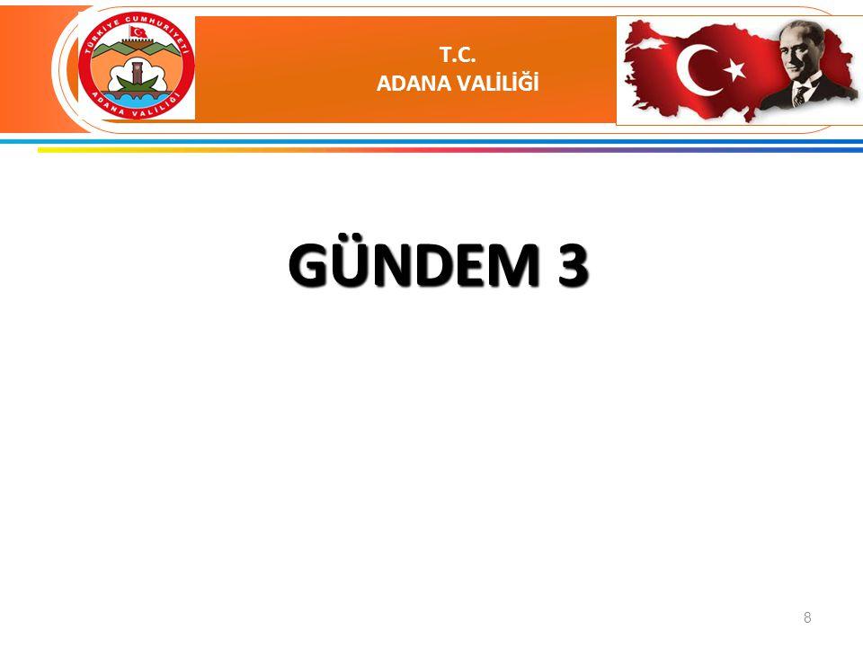 SUNUM YAPACAK KURUMLAR 1.ADANA BÜYÜKŞEHİR BELEDİYESİ 2.