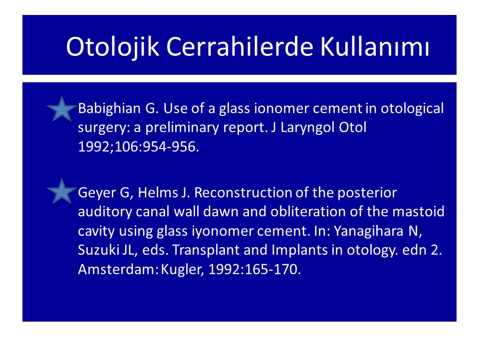 Osikuloplasti Stapedial timpanoskleroz ve piston uygulaması Kemal GÖRÜR