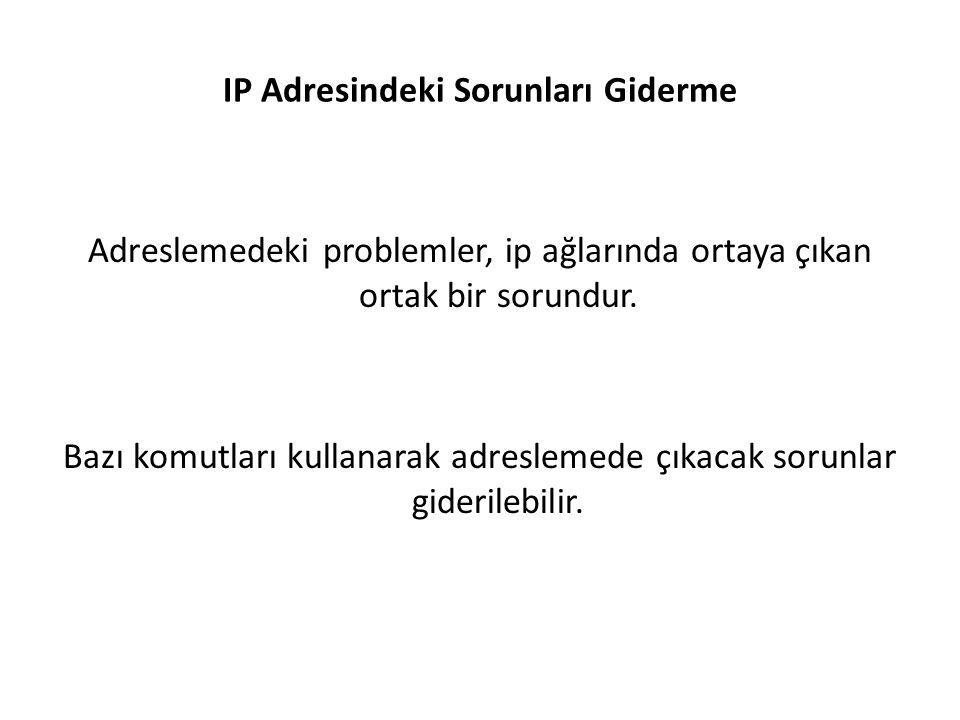 IP Adresindeki Sorunları Giderme Adreslemedeki problemler, ip ağlarında ortaya çıkan ortak bir sorundur.