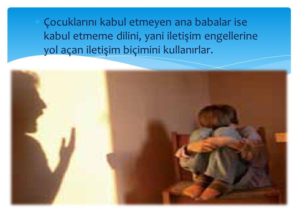 KABUL EDİLEBİLİR DAVRANIŞLAR KABUL EDİLEMEZ DAVRANIŞLAR Ebeveyn canlı, dinç ve bir işle uğraşırken çocuğun gürültü yapması Kabul çizgisi Ebeveyn yorgunluktan uyuya kalmışken çocuğun gürültü yapması