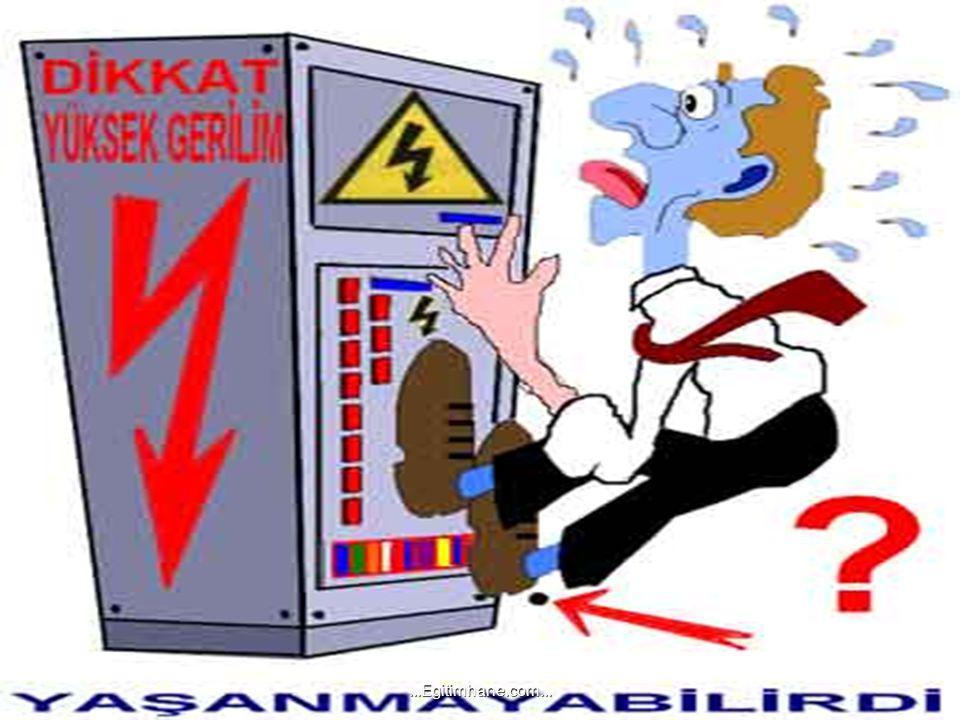 A-) ELEKTRİĞİN YOL AÇABİLECEĞİ TEHLİKELER Hayatımızı her yönüyle kolaylaştıran elektrik, dikkatli kullanılmadığında elektrik, dikkatli kullanılmadığın
