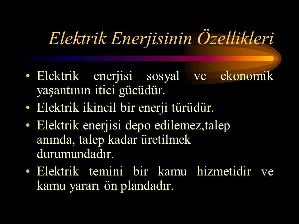 Elektrik Enerjisinin Özellikleri Elektrik enerjisi sosyal ve ekonomik yaşantının itici gücüdür. Elektrik ikincil bir enerji türüdür. Elektrik enerjisi