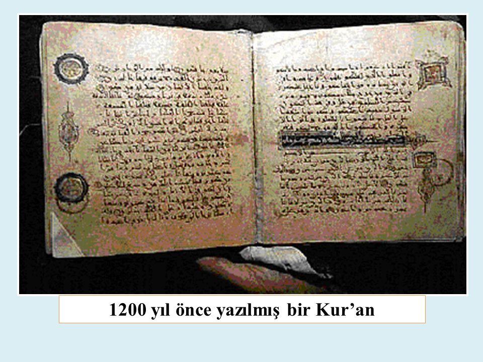 1200 yıl önce yazılmış bir Kur'an