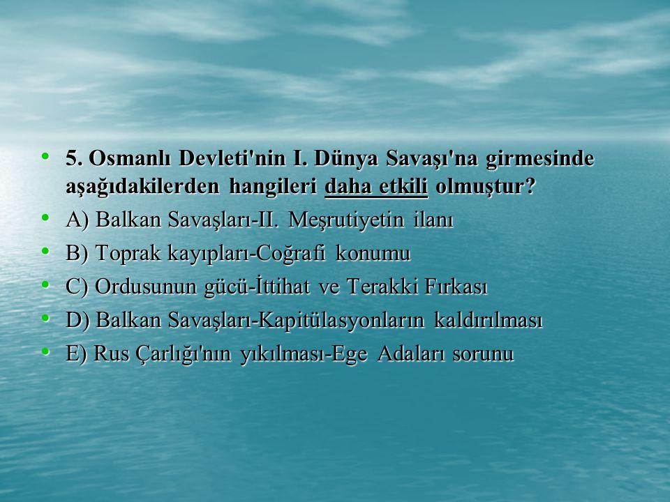 5.Osmanlı Devleti nin I.