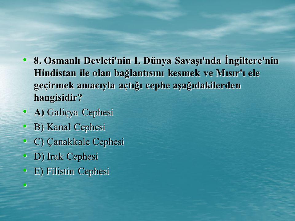 8.Osmanlı Devleti nin I.