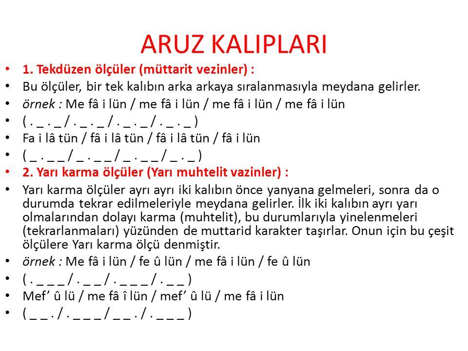 ARUZ KALIPLARI 1.