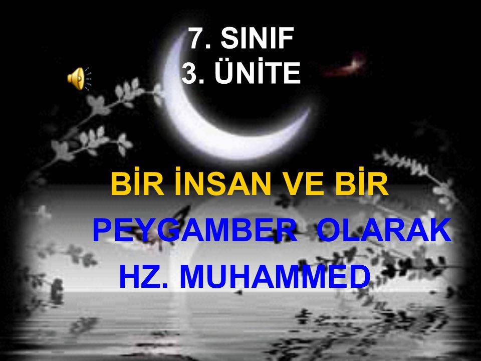 Hz.Muhammed in diğer insanlardan en önemli farkı peygamber olarak görevlendirilmesidir.