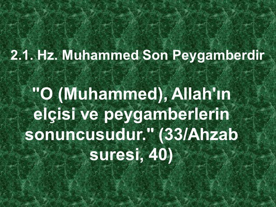 Hz. Muhammed'in diğer insanlardan en önemli farkı peygamber olarak görevlendirilmesidir. İnsanüstü bir güce sahip değildir. Allah'ın insanlar arasınd