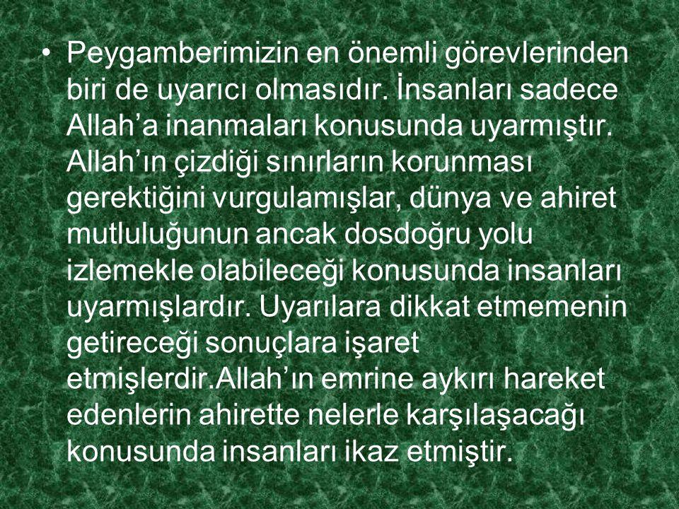 2.3. Hz. Muhammed İnsanlık İçin Bir Uyarıcıdır Kazanım: Hz. Muhammed'in baskı ve zor kullanmadan uyarma ve aydınlatma görevinin olduğunu fark eder.