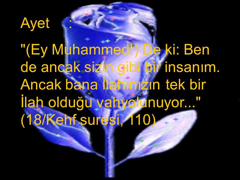 1. Hz. Muhammed'in İnsani Yönü Kazanım: Hz. Muhammed'in bizler gibi bir insan olduğuna ayetlerden örnekler vererek açıklar.