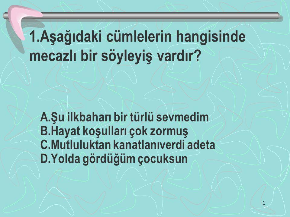 42 42.Türkiye'de en uzun gündüz,en kısa gece yaşandığı tarihte güneş ışınları nereye dik gelir.
