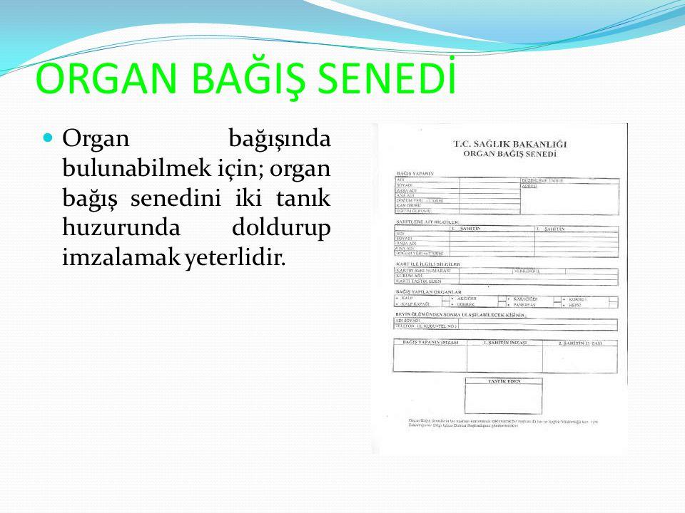 ORGAN BAĞIŞ KARTI