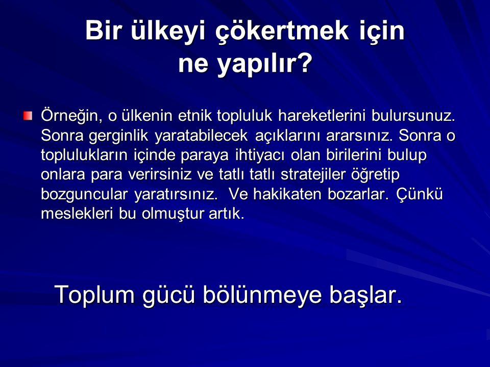 Yaklaşık 200 yıldır sürekli çalkantılı (Atatürk dönemi dışında) bir tarihimiz oldu.