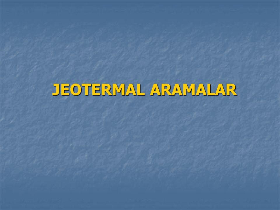 ARAMADA YERBİLİMCİLERİN GÖREVLERİ Jeotermal aramalarda, jeokimya ve hidrojeoloji konusunda uzman Jeoloji ve Jeofizik Mühendisleri bir arada çalışır.
