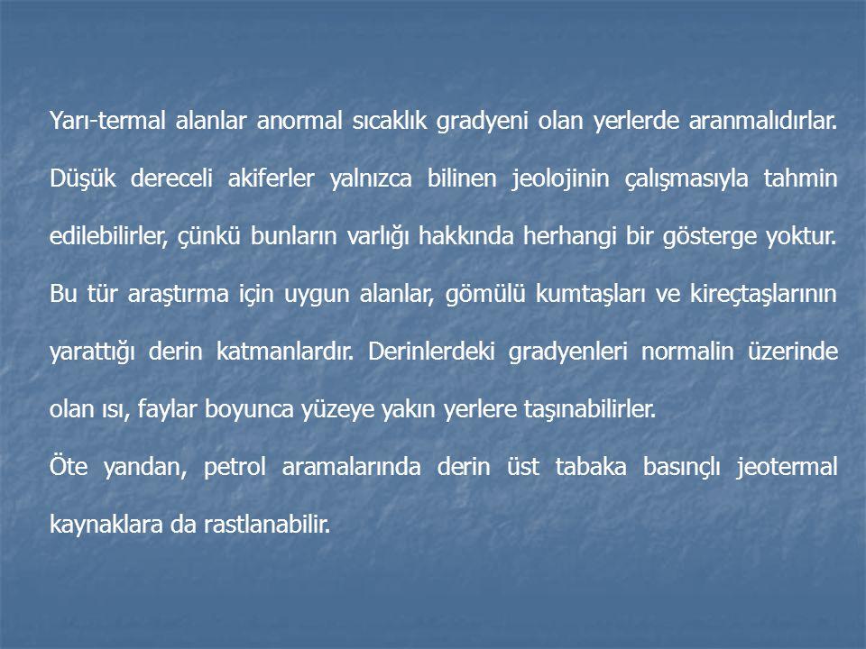 JEOTERMAL ARAŞTIRMALARIN AŞAMALARI: 1.Kaynak toplama (o belgedeki teknik araştırmalar) 2.
