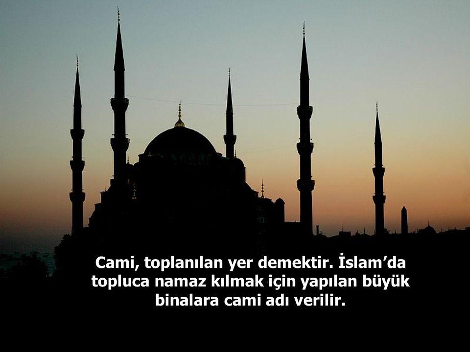 Aslında her dinin kendine özgü ibadet yerleri vardır. İbadet yerlerine aynı zamanda mabet de denir. Müslümanların mabedi camidir.