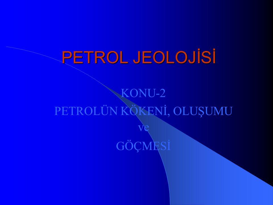 PETROL JEOLOJİSİ KONU-2 PETROLÜN KÖKENİ, OLUŞUMU ve GÖÇMESİ