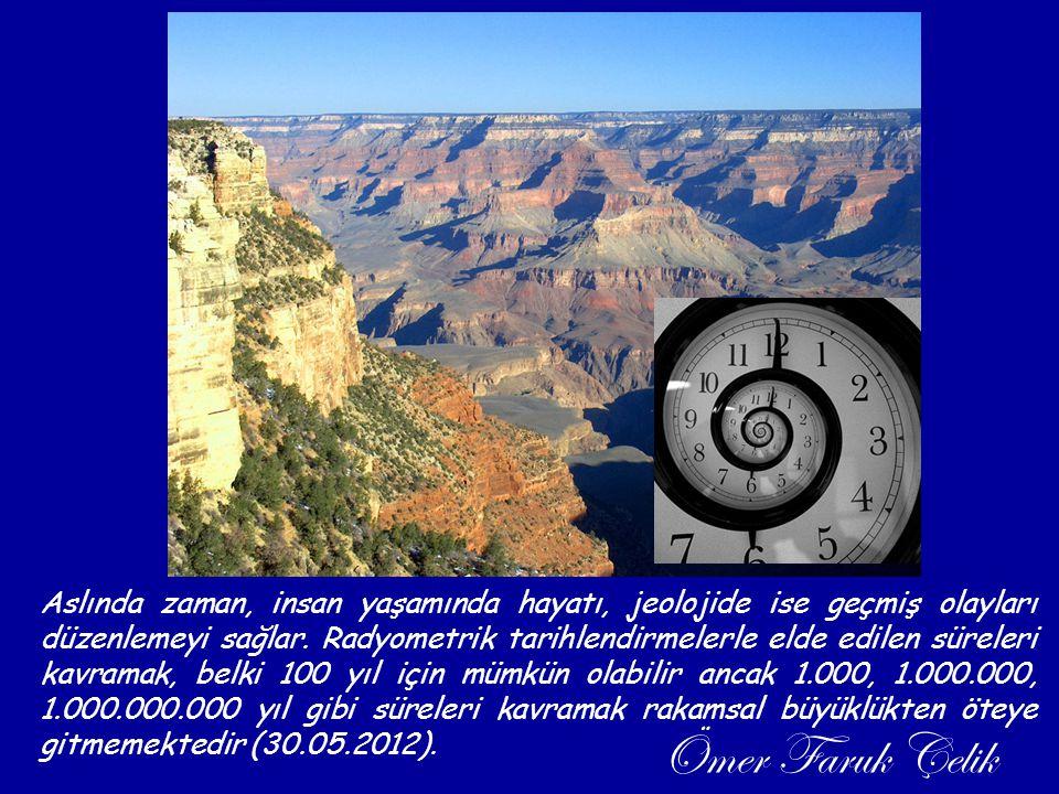 Aslında zaman, insan yaşamında hayatı, jeolojide ise geçmiş olayları düzenlemeyi sağlar. Radyometrik tarihlendirmelerle elde edilen süreleri kavramak,