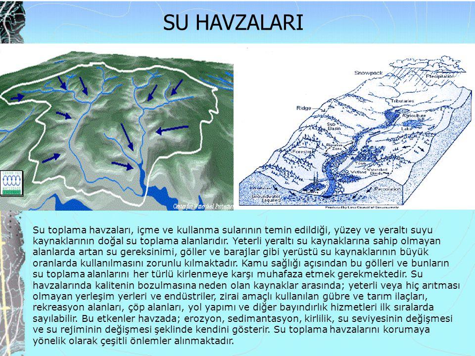 Su toplama havzaları, içme ve kullanma sularının temin edildiği, yüzey ve yeraltı suyu kaynaklarının doğal su toplama alanlarıdır.