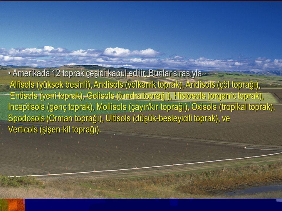 GENEL JEOLOJİ -TOPRAK OLUŞUMUGENEL JEOLOJİ -TOPRAK OLUŞUMU Prof. Dr. Yaşar EREN-2012 Yrd.Doç.Dr.Yaş ar EREN Amerikada 12 toprak çeşidi kabul edilir. B