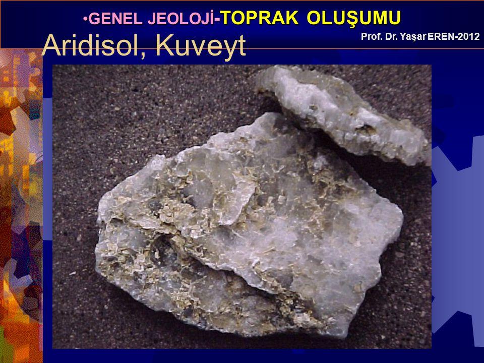 GENEL JEOLOJİ -TOPRAK OLUŞUMUGENEL JEOLOJİ -TOPRAK OLUŞUMU Prof. Dr. Yaşar EREN-2012 Aridisol, Kuveyt