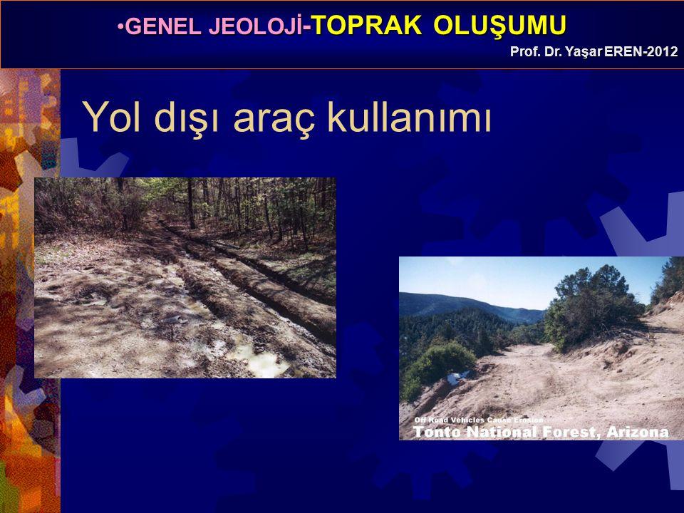 GENEL JEOLOJİ -TOPRAK OLUŞUMUGENEL JEOLOJİ -TOPRAK OLUŞUMU Prof. Dr. Yaşar EREN-2012 Yol dışı araç kullanımı