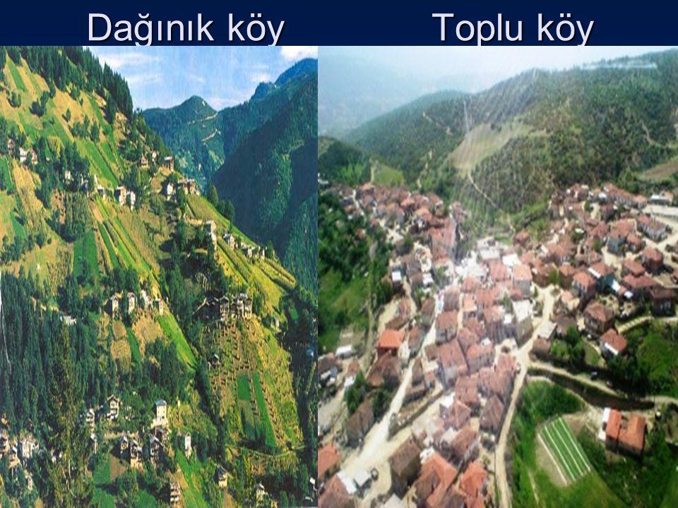 Dağınık köy Toplu köy toplu yerleşme