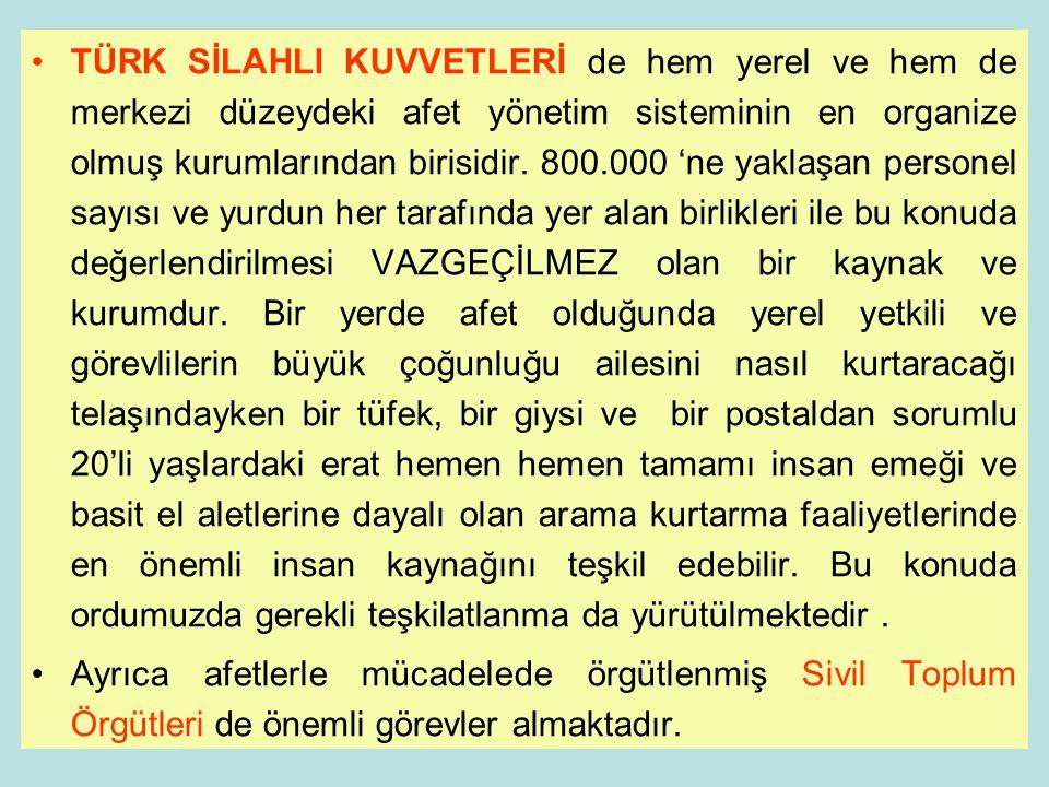 28 Bir sivil toplum kuruluşu olan Türkiye Kızılay Derneği, ülkenin afet yönetim sistemi içerisinde, önemli görev ve sorumluluklar yüklenmiş olan bir k