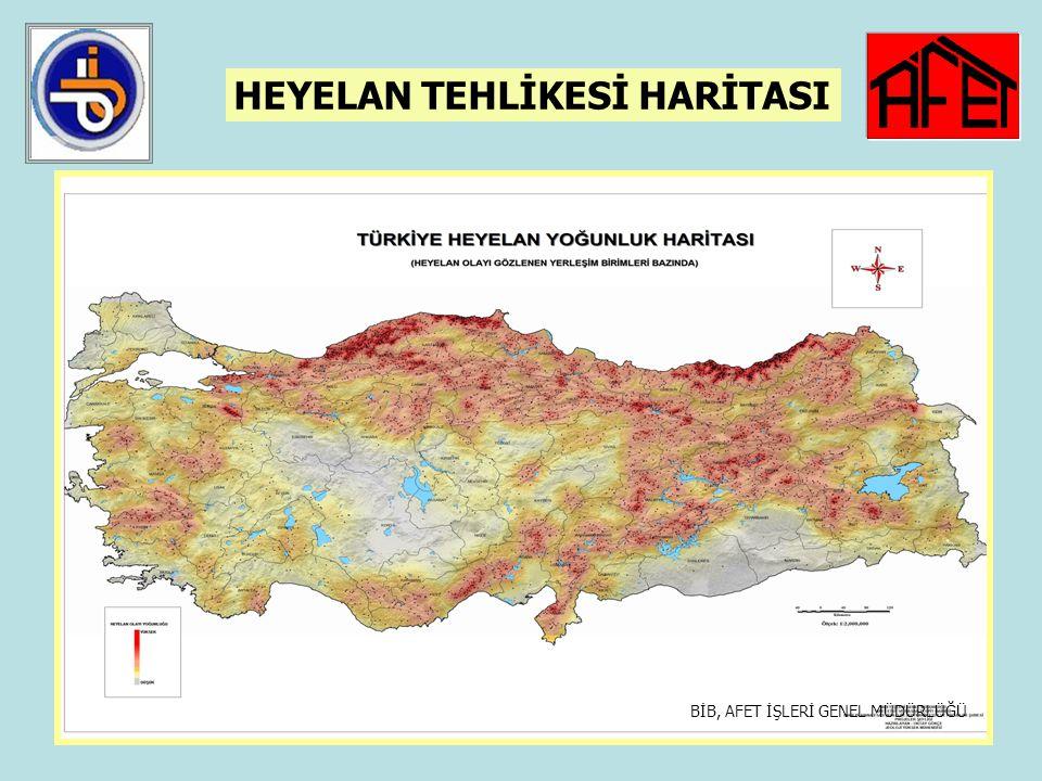 38 HEYELAN AFETİ 1950-2006 yılları arasında 4.161 yerleşim yerinde 12.794 heyelan olayı olmuştur. Bu alanlar Afete maruz bölge ilan edilmiş ve heyelan