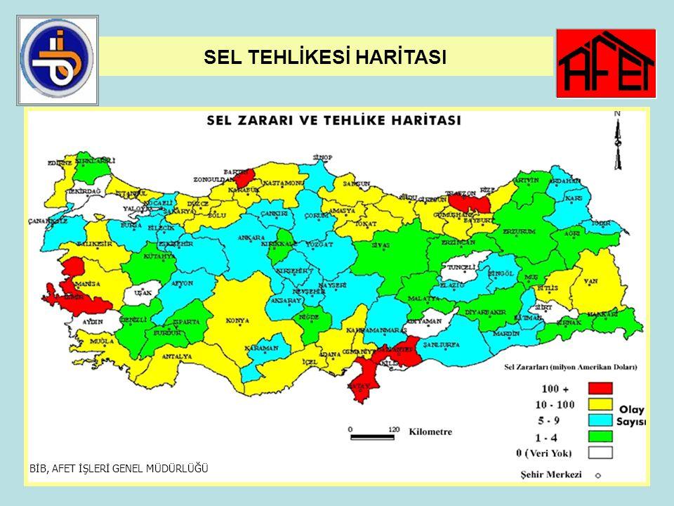 40 SEL AFETİ 1950-2006 yılları arasında 1.861 yerleşim yerinde 3.873 taşkın olayı olmuştur. DSİ Genel Müdürlüğü tarafından, yerleşim yeri olarak su ta
