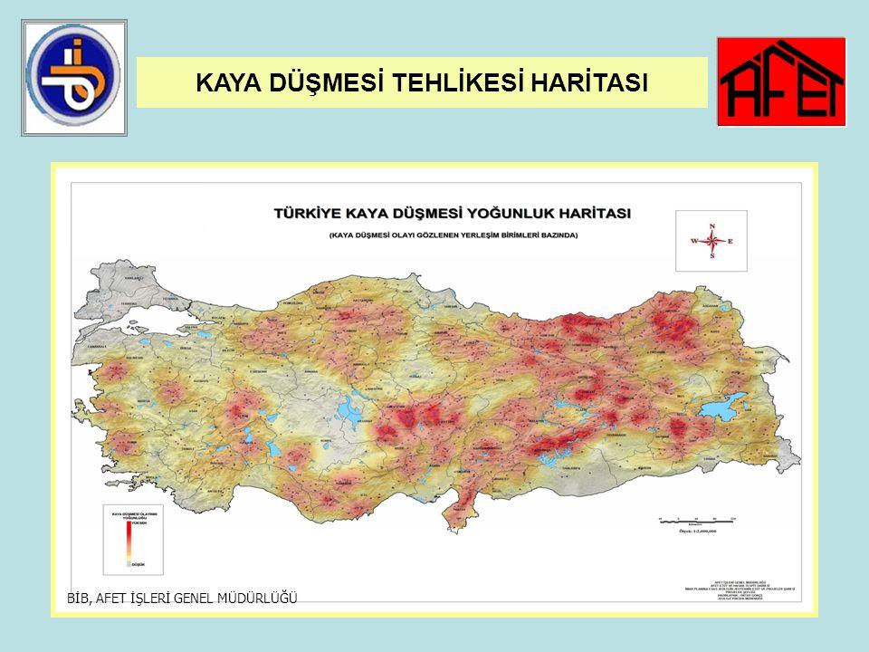 42 KAYA DÜŞMESİ AFETİ 1965-2007 yılları arasında 899 yerleşim yerinde 2.769 kaya düşmesi olayı olmuştur. Yerleşim yeri olarak kaya ıslah projesi geliş