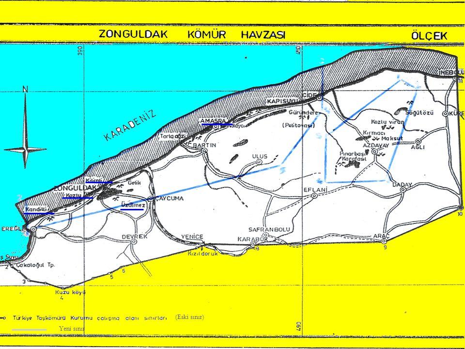 9 İmtiyaz Alanı Bakanlar Kurulu'nun 14/04/2000 tarih ve 2000/525 kararı ile 6.885 km 2 (3.000 km 2 si denizde, 3.885 km 2 si karada) olarak tespit edilmiş olan Kurumun imtiyaz alanı, prodüktif karbonifer alanlarını kapsayacak şekilde yeni bir çalışma sonucunda; karada 458 km 2, denizde 153 km 2 olmak üzere 611 km 2' ye düşürülmesi Yönetim Kurulumuzca kabul edilmiş ve Bakanlığımıza sunulmuştur.